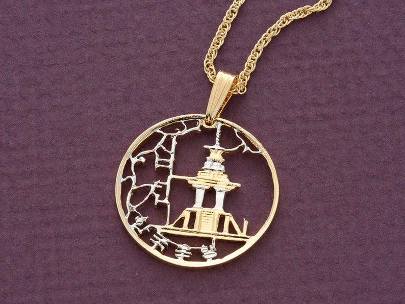 Korean Pendant and Necklace Jewelry Korean 10 Won Coin Hand   Etsy
