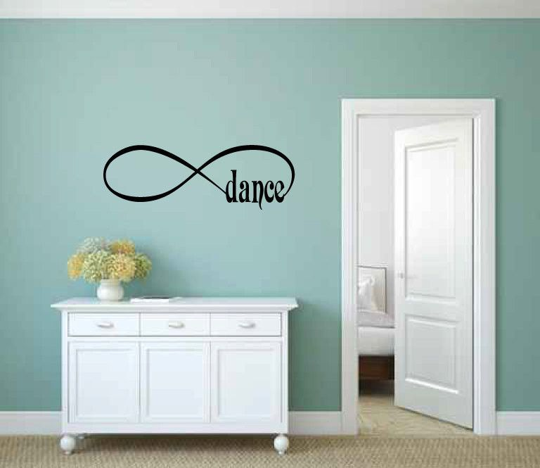 Infinity Sign Symbol Dance Vinyl Wall Words Decal Sticker Graphic - Custom vinyl sign stickers   removal options