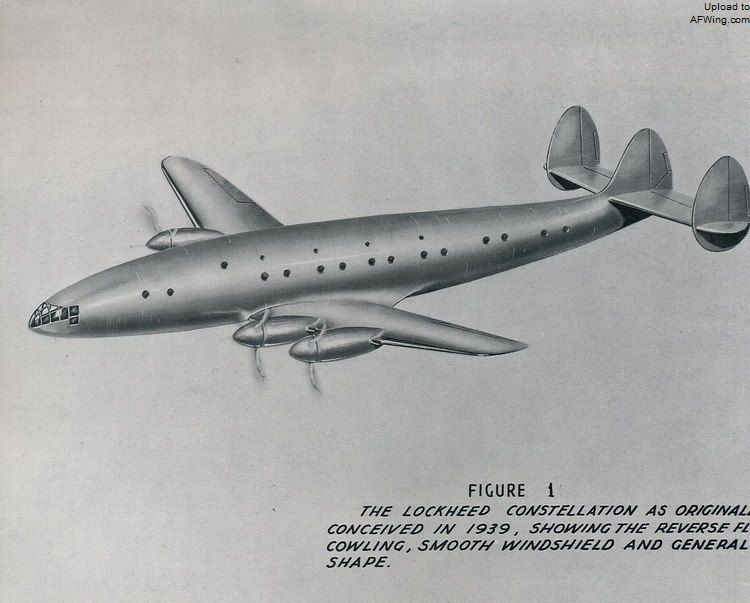 The Connie as originally conceived in 1939, showing her general shape