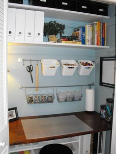 desk in closet ideas - Google Search