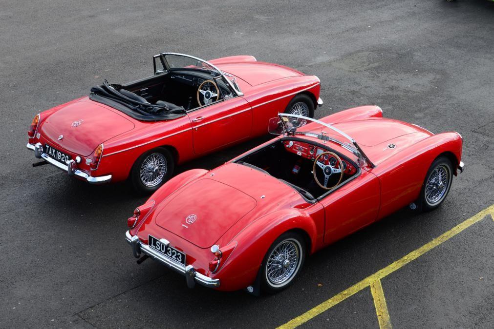 MGB and MGA top header Vintage sports cars, Classic cars
