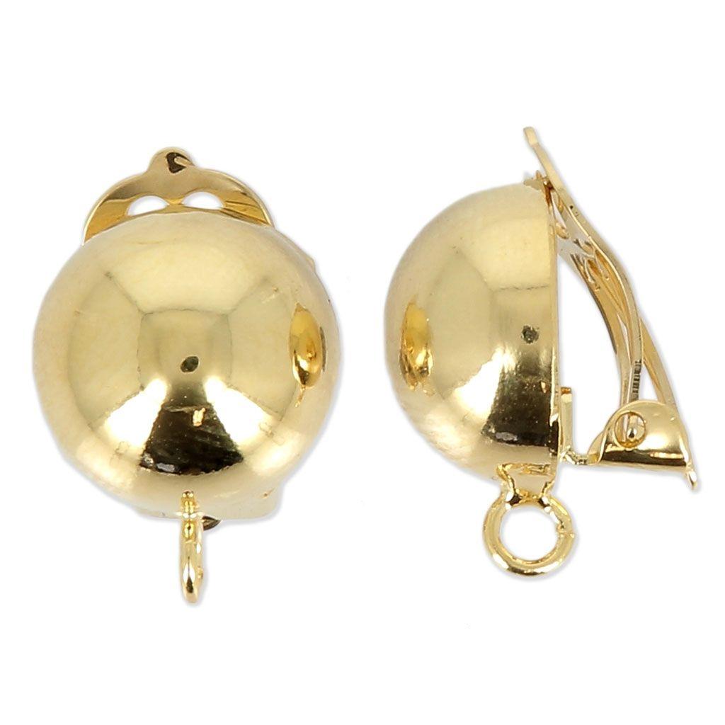 acheter en ligne 5f89a 63dde Boucles d'oreilles clips pour oreilles non percées - boule ...
