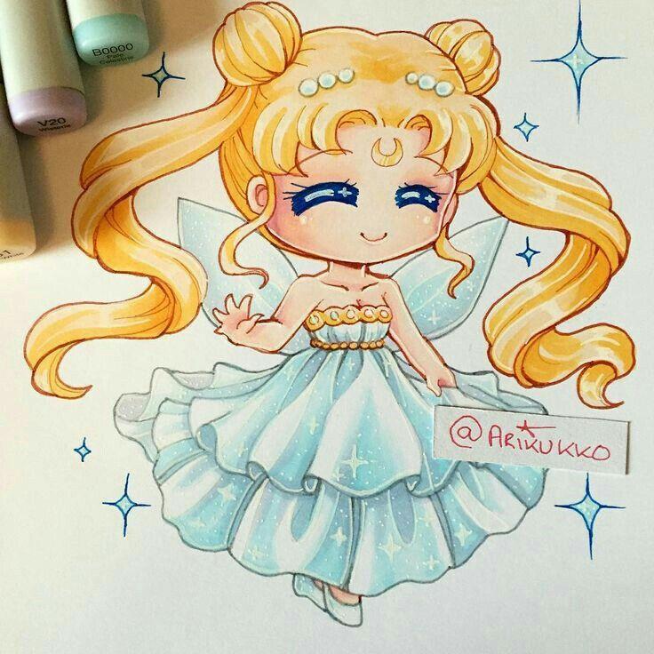 Mini Princess Serena Sailor Moon Art Sailor Moon Manga Anime Chibi