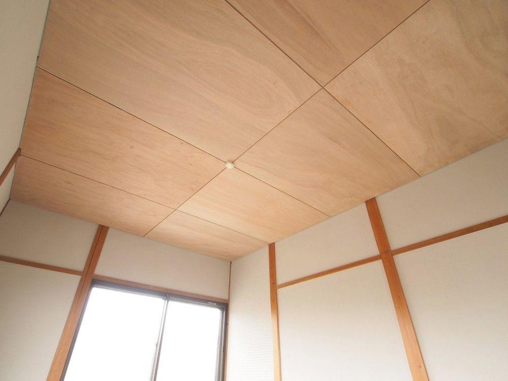 かっちんさんの洋室の天井 ラワン合板を天井に 5715 1 ラワン