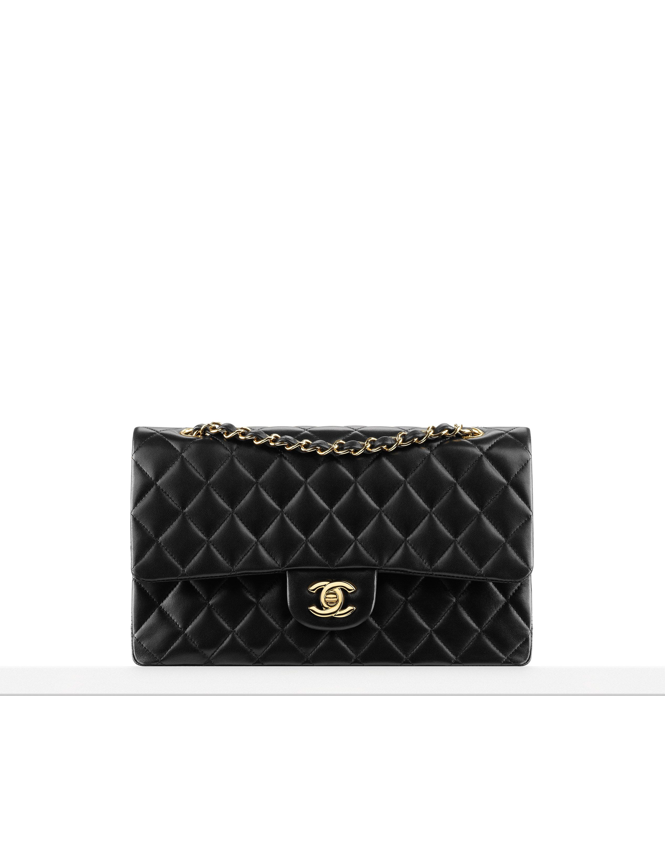 4,900 Chanel Classics - Classic flap bag in quilted lambskin Available in  silver or gold metal Also available in caviar calfskin f01c84a65a