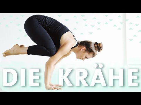 yoga krähe crow pose lernen für anfänger in einfachen