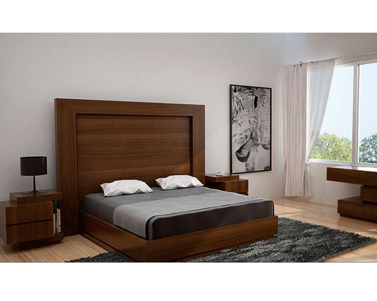 Recamara hilef arizona rec mara modelo contempor neo con for Buros de cama modernos