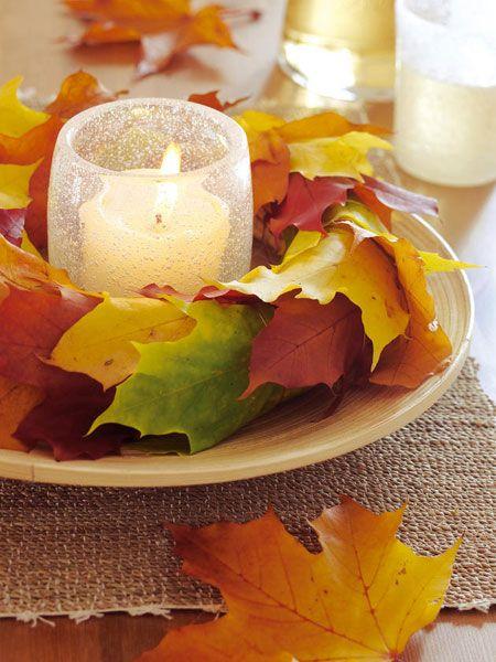 Herbstdeko mit Laub und Blatt18