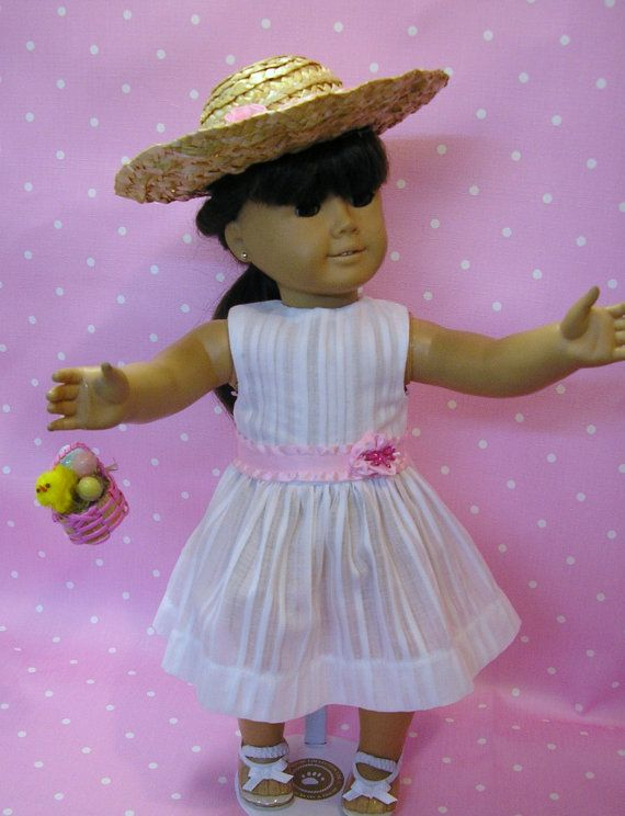 Easter hat and dress for American Girl by NanaJerrisCreations, $24.00