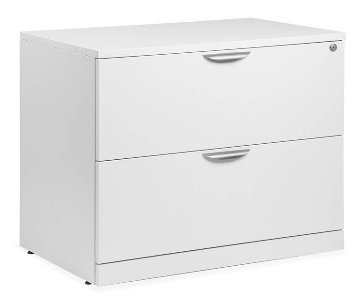 This Lateral 2 Drawer Laminate File Cabinet In White Is An Attractive Piece Of Fur Small Office Furniture Used Office Furniture Office Furniture Stores