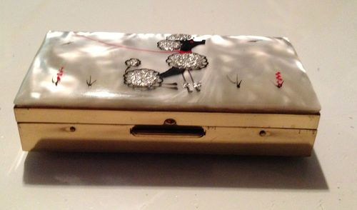 cf483239cc0c Vintage Poodle 1950 s Cigarette Case from Marhill Fifth Avenue New York
