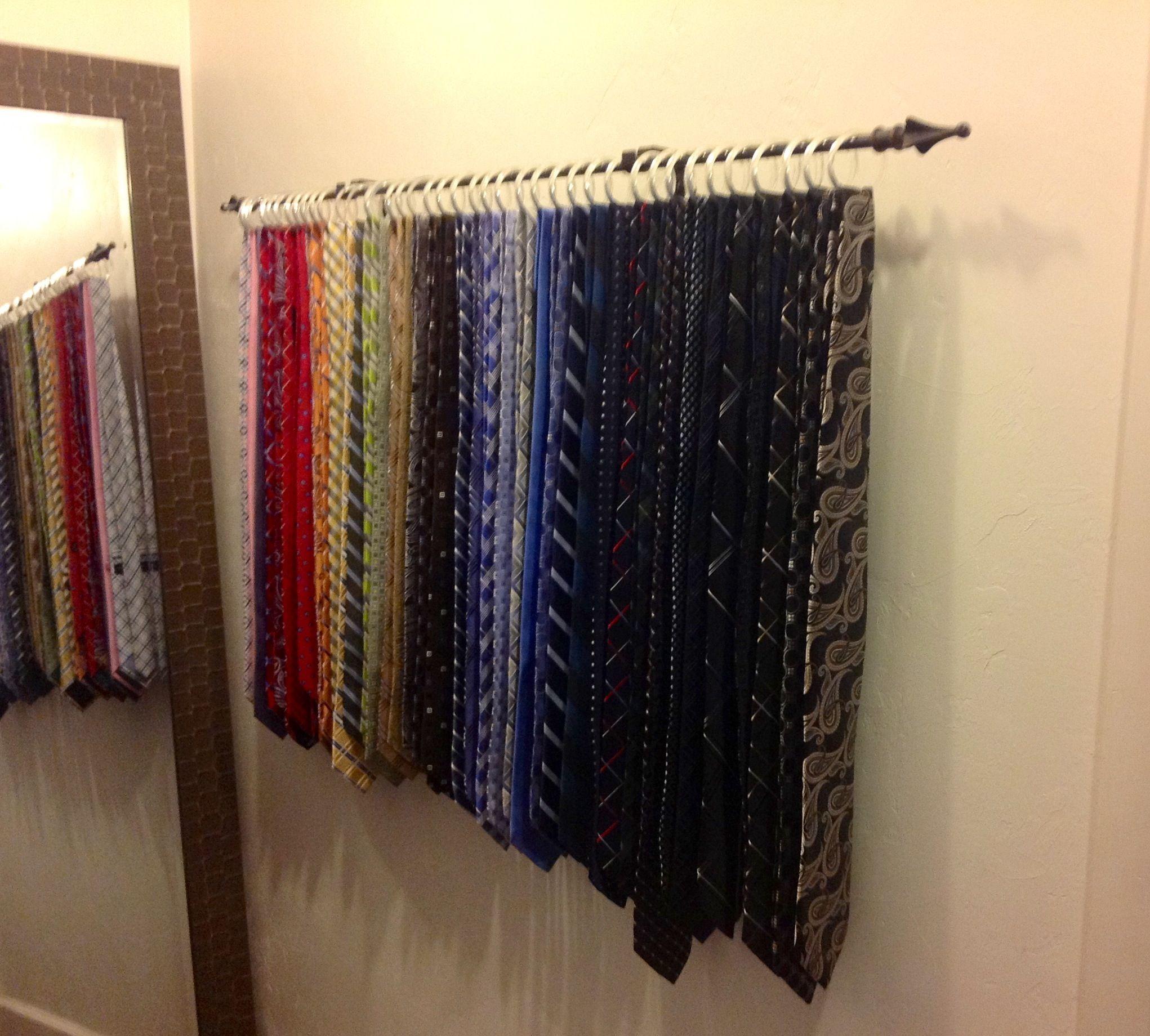 Tie Rack idea for hubby's ties? | Corbatas organizador ...