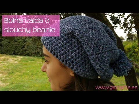 Boina caída de ganchillo. Slouchy beanie crochet. - YouTube  9fb50aea772