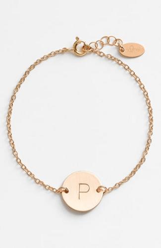 6b844b3a0fe27 Women's Nashelle 14K-Gold Fill Initial Disc Bracelet | Bracelets ...
