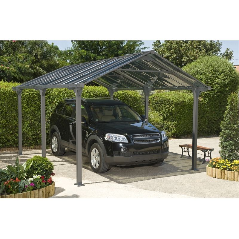 Suntuf 5 x 3.6m Grey Vanguard Carport Kit 3k bunnings