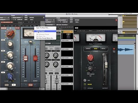 Free Tutorial From Waves - How To Copy Plug-in Settings