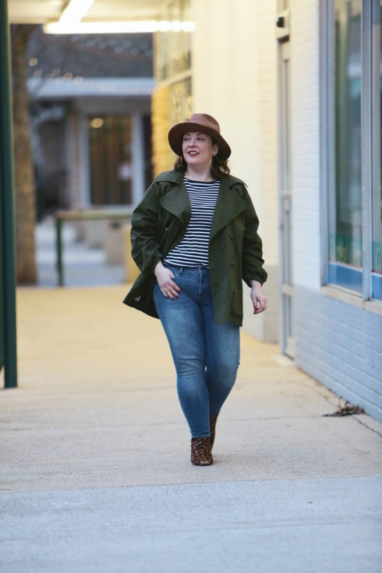 876fe8ea Wardrobe Oxygen in the cabi Expedition Jacket with leopard ankle boots and  a leather Stetson safari hat #cabiclothing #expeditionjacket #over40fashion