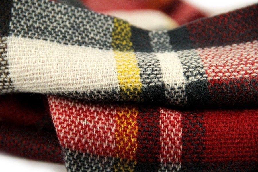 Tartan Mac Gregor   Echarpe foulard rouge   Écharpe à carreaux ... da24f754681
