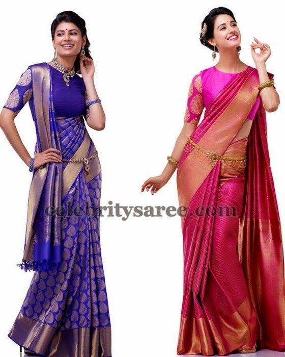 855a79d657b376 Bridal Half Sarees by Kalyan Silks