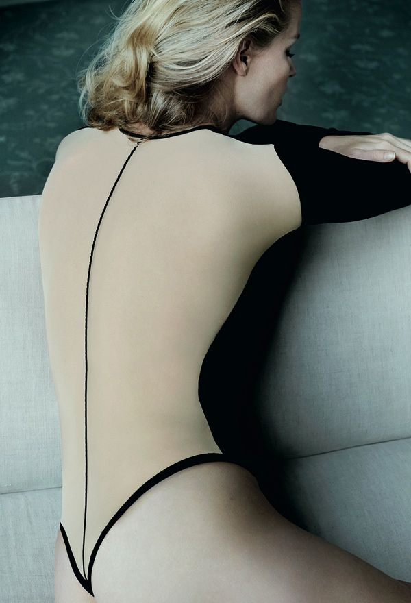 Caroline Winberg by Mario Testino for Wolford Lingerie Fall 2014 Campaign