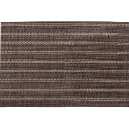 BelleVesta 13 inch x 19 inch Placemat, Set of 4, Dotted Lines, Brown