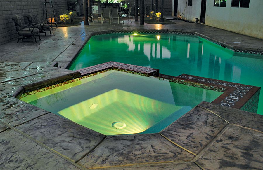 Inground pool lights colorchanging led images with