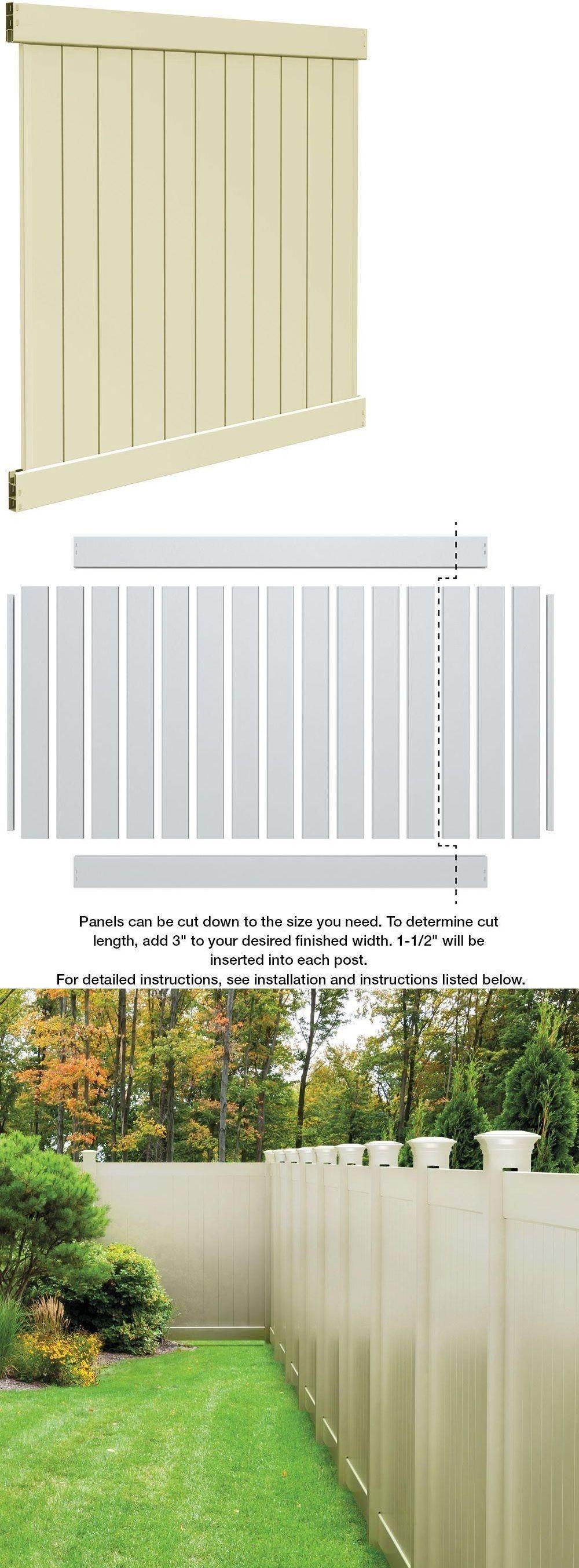 fence panels 139946 privacy vinyl fence panel kit 6 x 6 ft