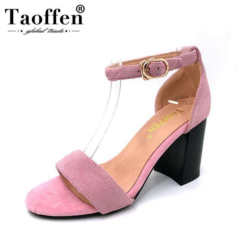 2019 的 TAOFFEN women stiletto new ankle strap high heel