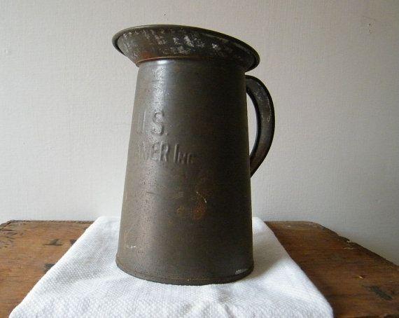 Tinware Colander Old Strainer Vintage Kreamer Tin Colander Kreamer Tinware