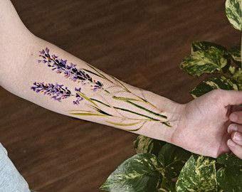wild flowers tattoos lavendar - Google Search