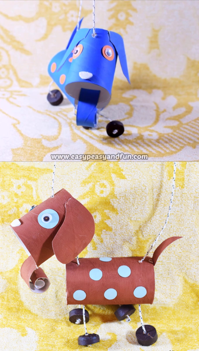 How To Make A Dog Marionette Puppet Kid Stuff Crafts For Kids