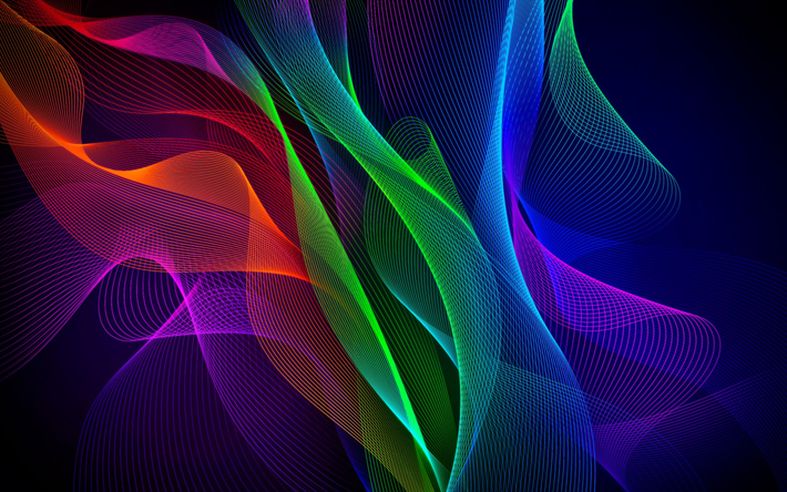 Download Wallpapers Colorful Waves Art Abstract Waves