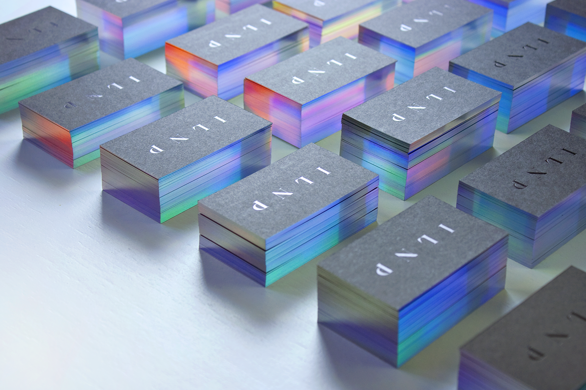 I l n pilnp cosmetics inc is a boutique cosmetics company that polish designer marcin usarek created these incredible iridescent business cards for ilnp a boutique nail lacquer company magicingreecefo Images