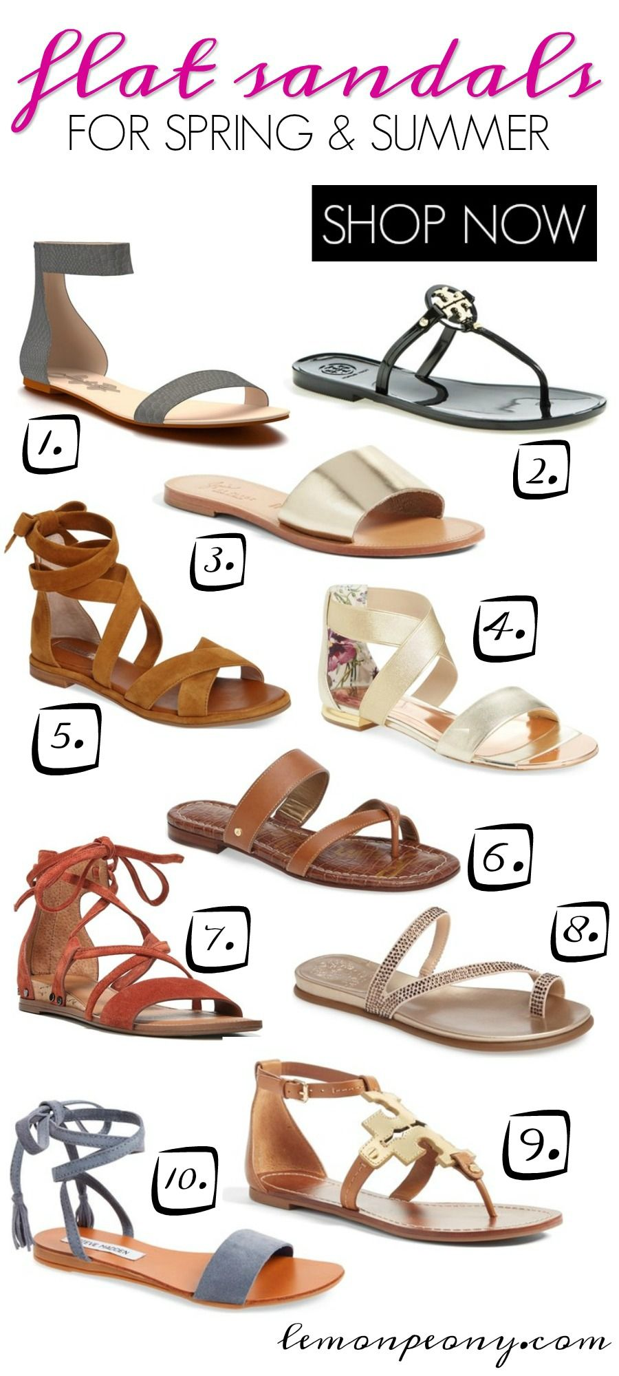 Flat Spring and Summer Sandal Trends
