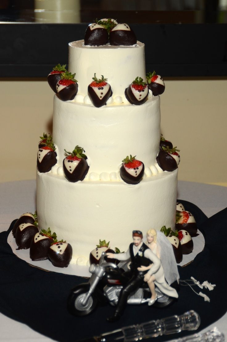 Harley Davidson Wedding Cakes | Wedding cake with just a touch of ...