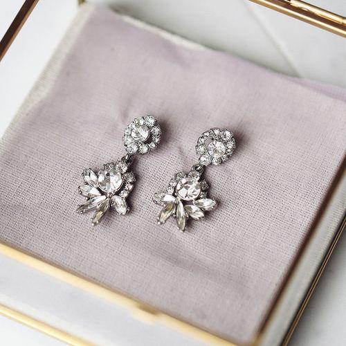 Swept Away Post Drop Earrings. #C+I #BridalShop #www.chloeandisabel.com/boutique/vanessagottardi
