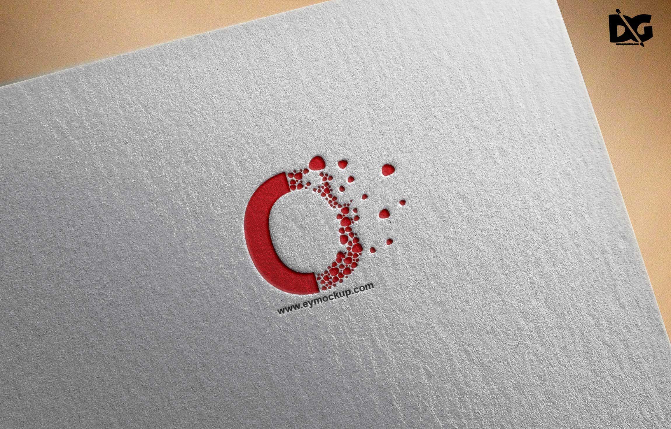 Bright Clean Logo Presentation Mockups Logo Presentation Cleaning Logo Mockup Free Psd