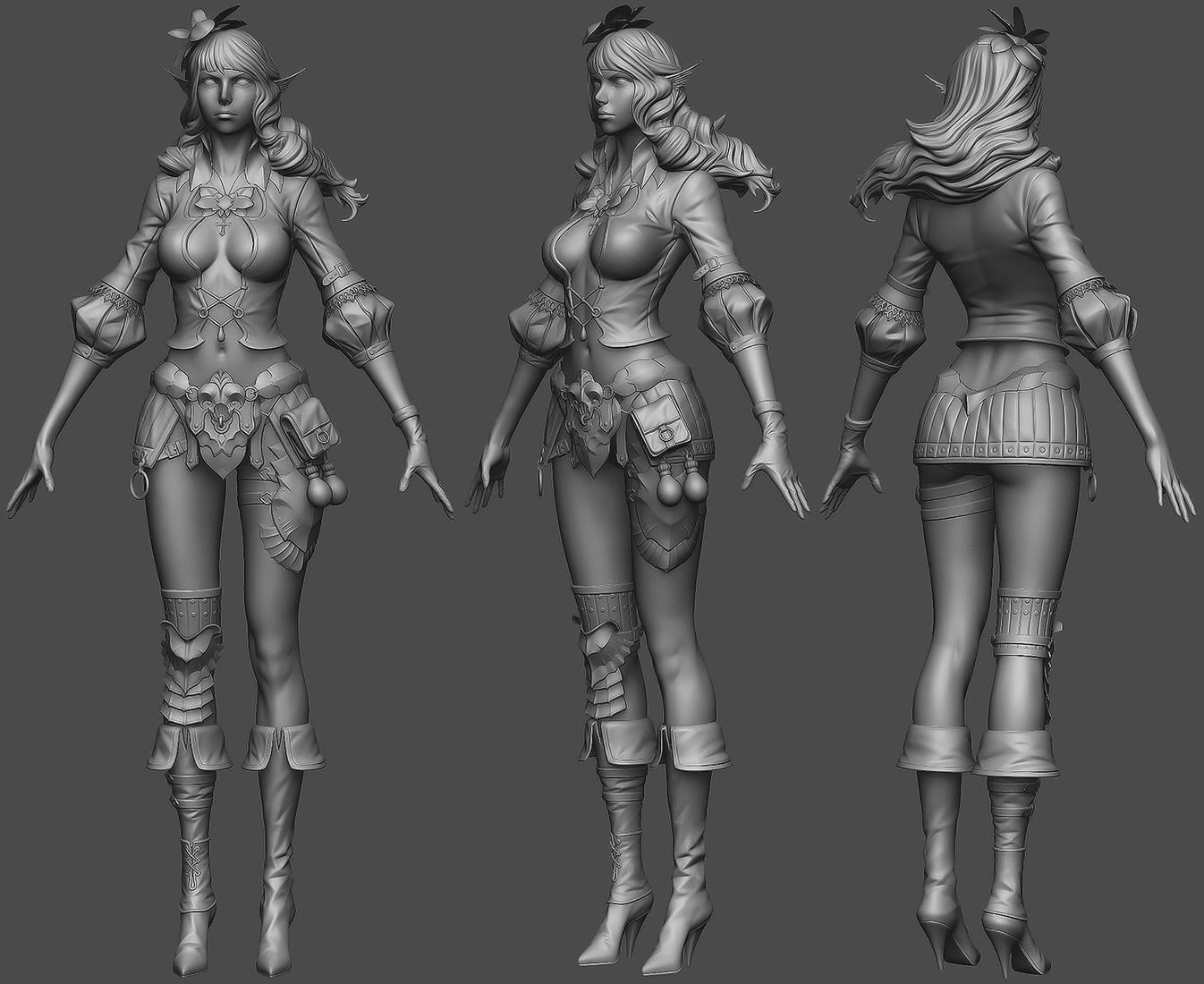 beautiful 3d character model designs for your inspiration