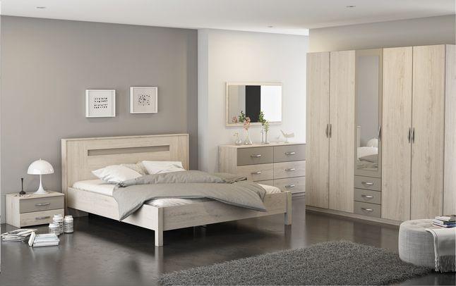 La chambre coucher georgia de marque fran aise demeyere meubles comprend un lit pour 2 - Chambre a coucher 2 personnes ...