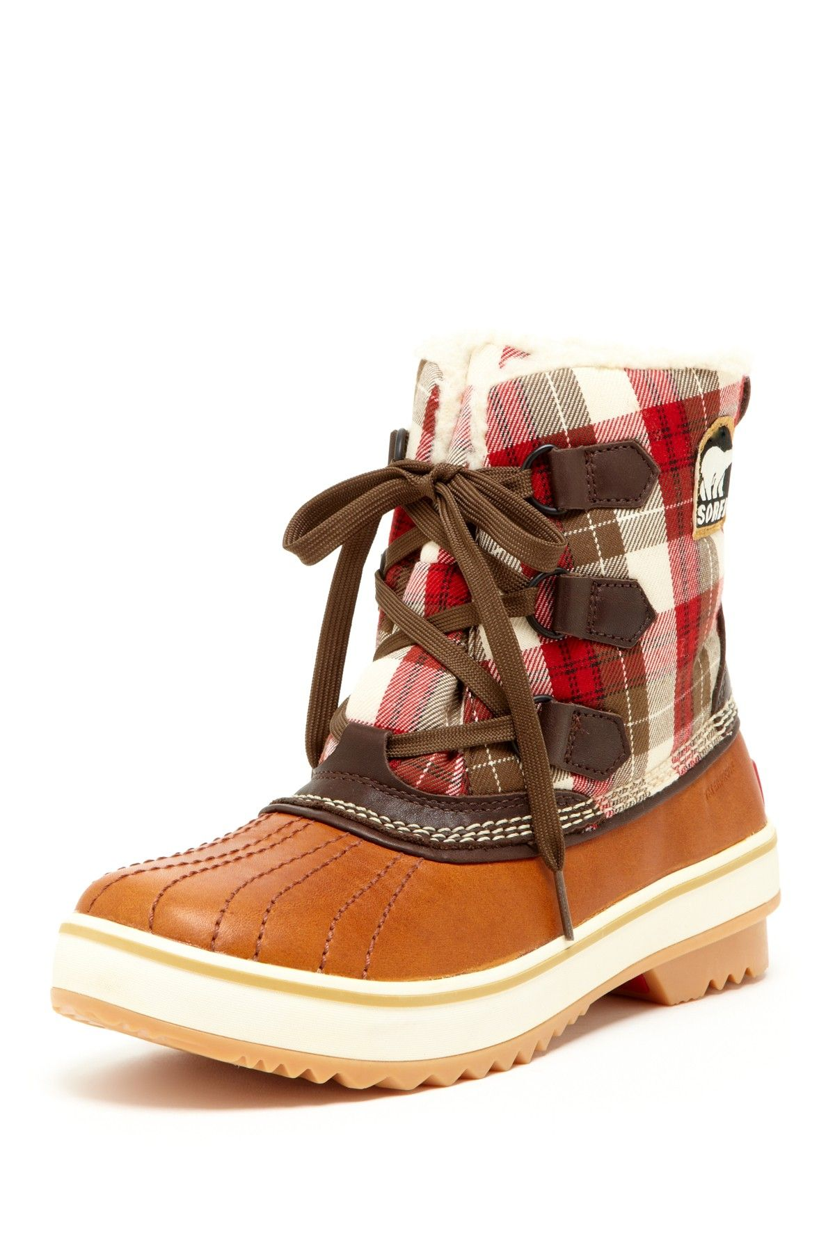Sorel - Tivoli Plaid 2 Winter Boot | 58.00  why am i pinning boots on my wedding board? because im having a winter wedding!
