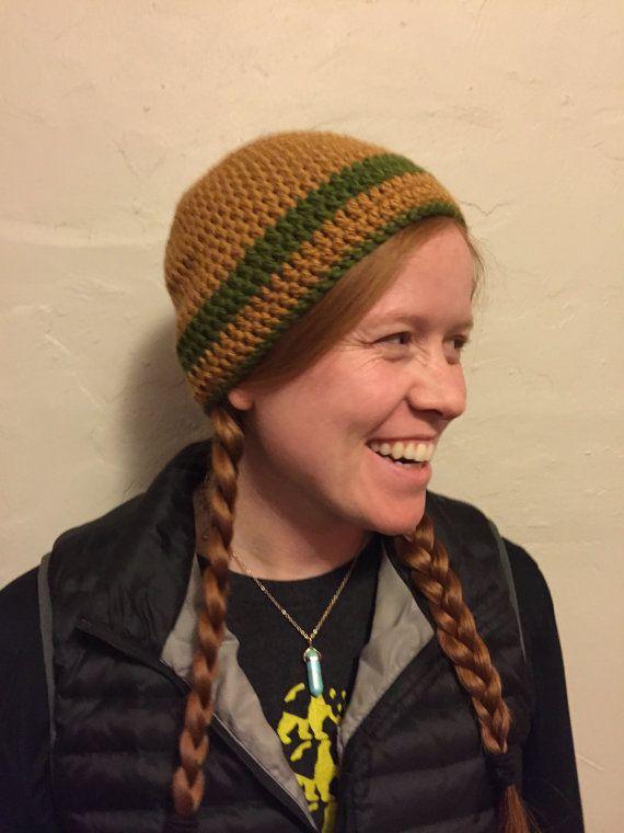 Yellow and Green Crochet Winter Hat by JazzyShagz on Etsy
