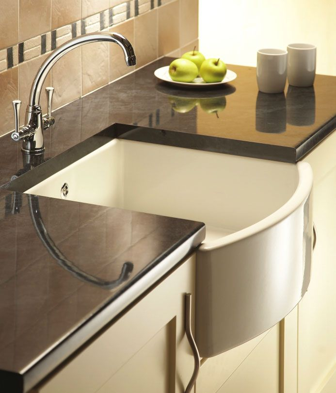 30 Brilliant Kitchen Island Ideas That Make A Statement: Shaws CLASSIC WATERSIDE Kitchen Sink (With Images