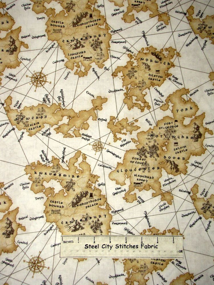 Old world map compass theme cotton fabric timeless treasures c2711 old world map compass theme cotton fabric timeless treasures c2711 by the yard gumiabroncs Gallery