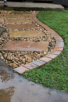 diy installing a cobbled edging diy outdoor projects