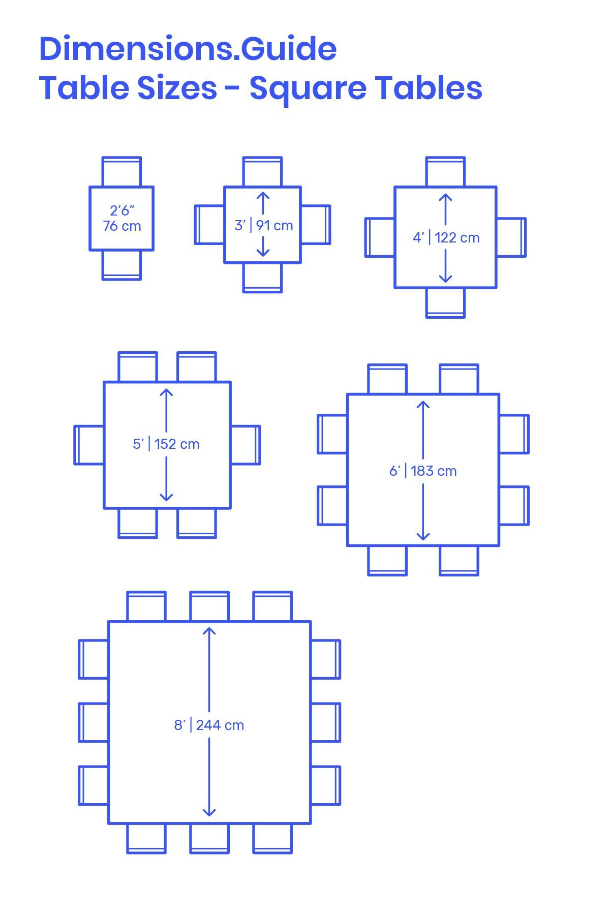 Square Tables Size Variations Square Tables Are Efficient Tables