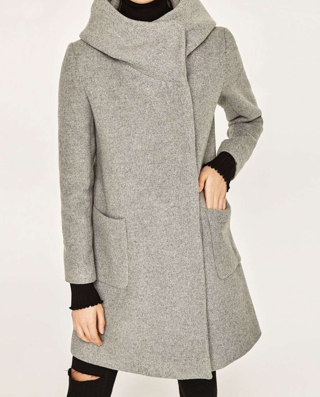 ZARA - COLLECTION SS/17 - COAT WITH WRAP COLLAR