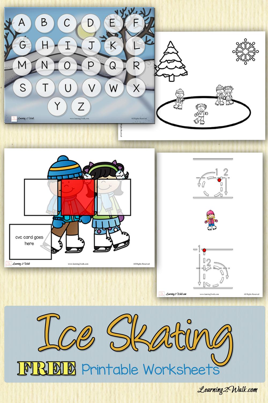 Ice Skating Free Printable Worksheets