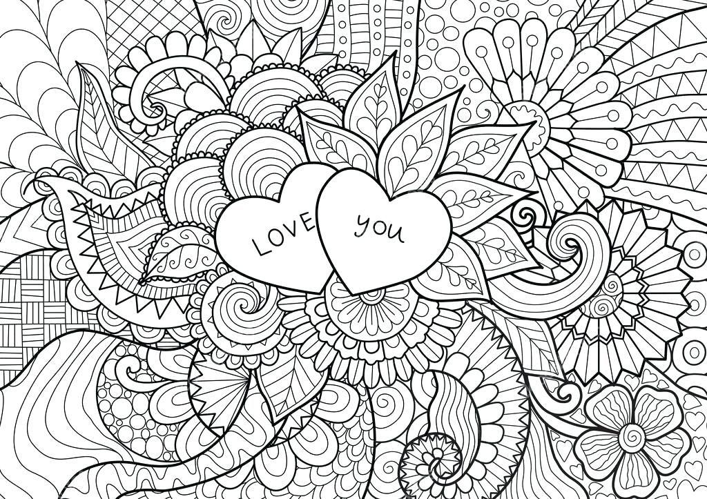 Paginas Para Colorear De Flores Y Corazones Para Pintar De Flores Y Corazones Love Coloring Pages Coloring Pages Coloring Books