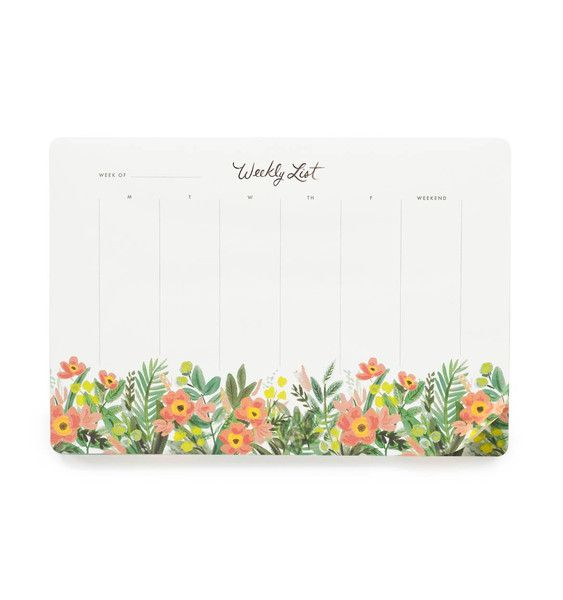 Floral weekly planner A3 desks pad Office Note Pad