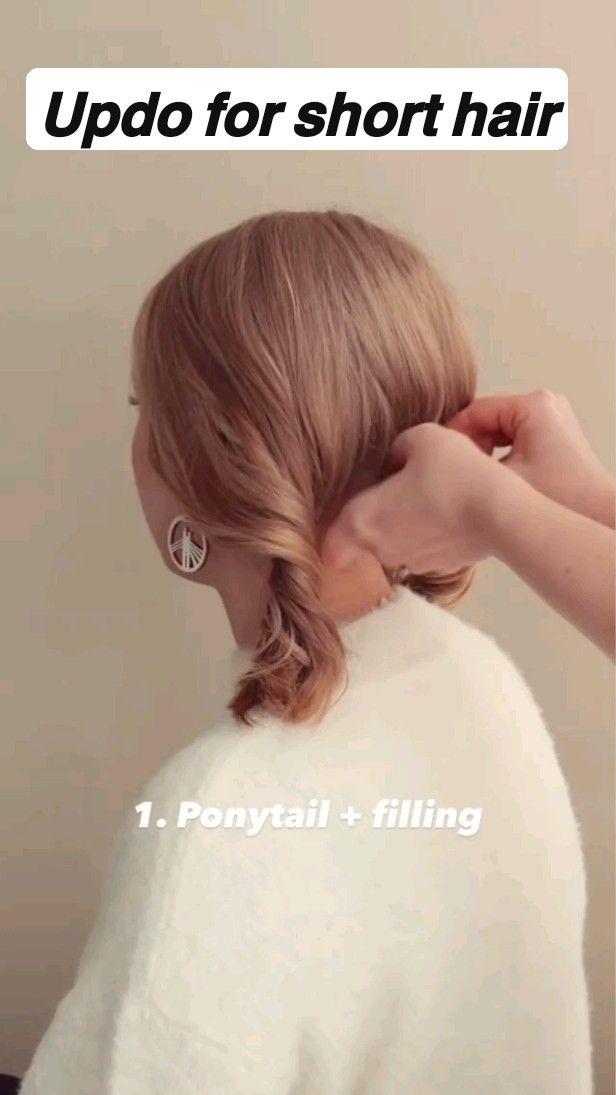 𝗨𝗽𝗱𝗼 𝗳𝗼𝗿 𝘀𝗵𝗼𝗿𝘁 𝗵𝗮𝗶𝗿 / easy hairstyles / short hair